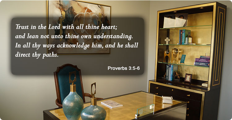 photo of Dr. Rhonda Sullivan-Ford's office with favorite bible scripture
