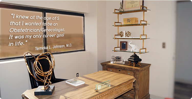 photo of Dr. Temeka L. Johnson's office with her quote